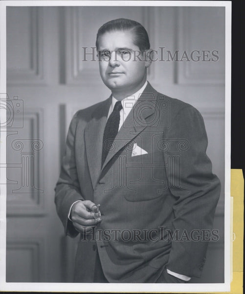 Press Photo Carl F G Meyer III President of the National Wholesale Druggist Assn - Historic Images