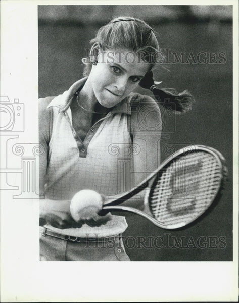 1983 Press Photo Tennis Player - Historic Images