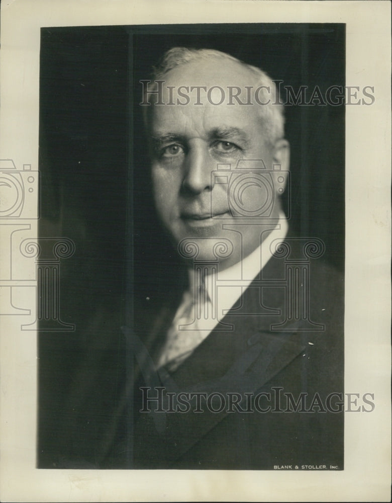 1931 Press Photo Goodyear Tire Rubber Company President P.W. Litchfield Portrait - Historic Images