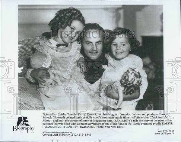 1995 Press Photo Darryl F. Zanuck: 20th Century Filmaker Shirley Temple Darrylin - Historic Images