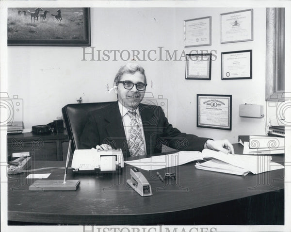 1981 Press Photo of Thomas J. Forts of Northwest Federal Savings - Historic Images