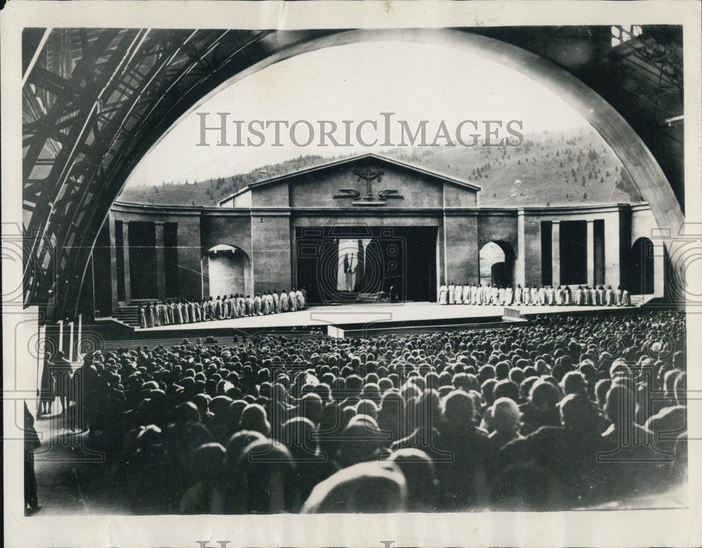 1930 Open Air Auditorium In Oberammergau, Germany Passion Play - Historic Images