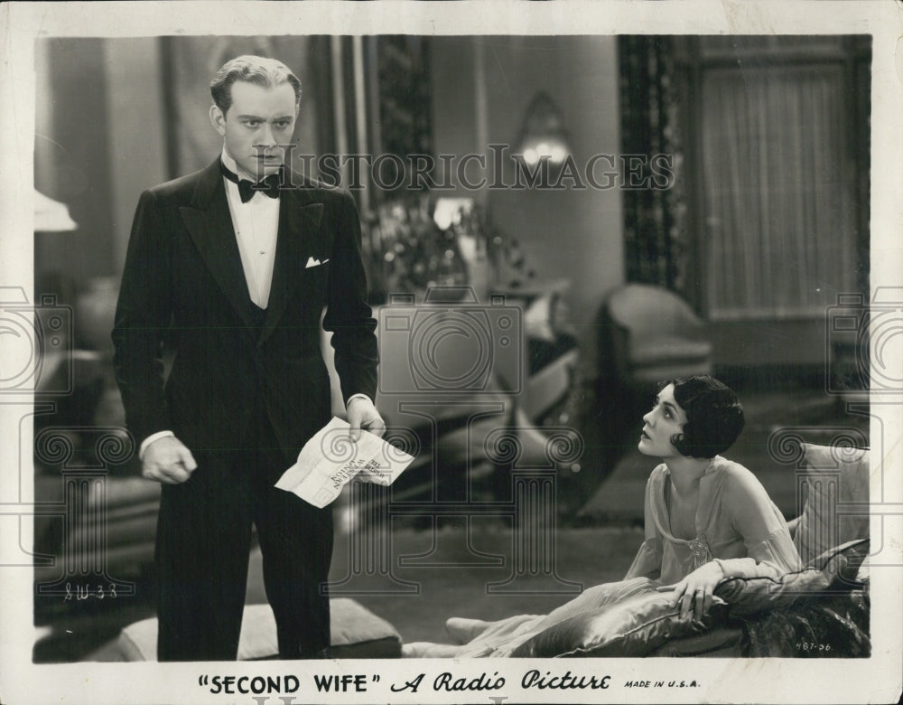 1930 Press Photo Conrad Nagel and Lila Lee in Second Wife - Historic Images