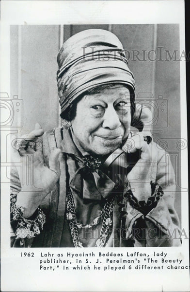 1965 Bert Lahr Beauty Part Hyacinth Laffon - Historic Images