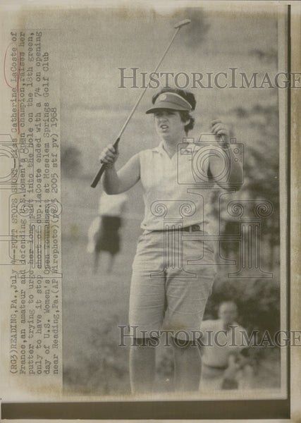 1968 Press Photo Independence Day Defeat For Catherine LaCoste, Women's Golf - Historic Images