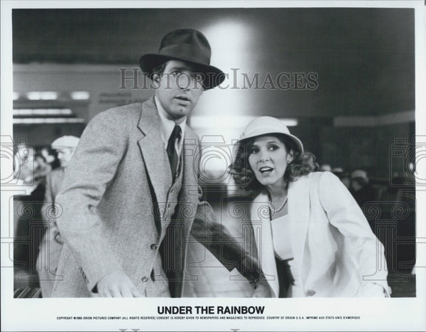 "1980 Press Photo Chevy Chase in ""Under the Rainbow"" - Historic Images"