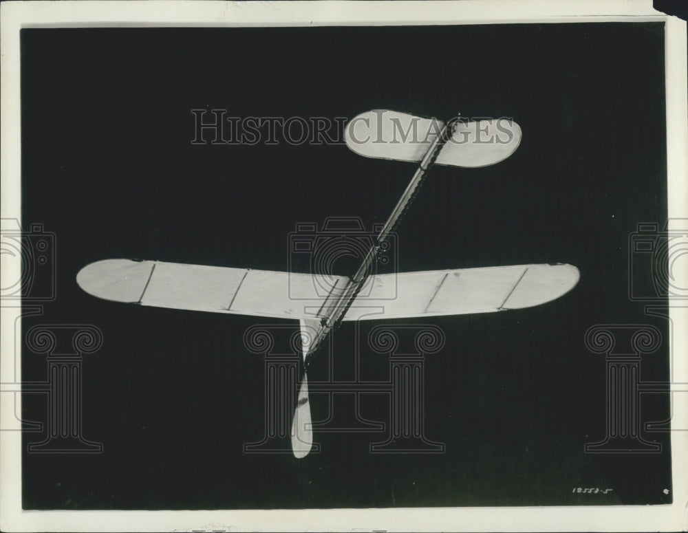 "1928 ""Pusher"" airplane has propellers behind the wing - Historic Images"
