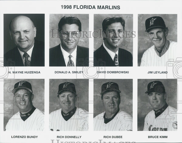 "1998 Press Photo Team Pictures ""The Florida Marlins"" - Historic Images"