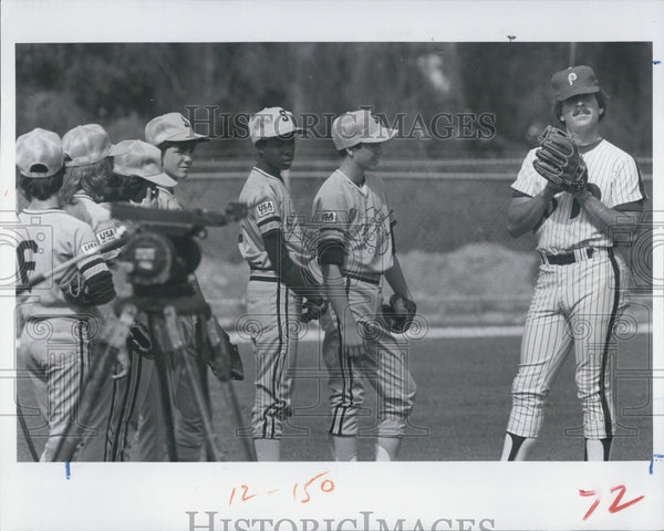 1983 Press Photo Mike Schmidt Philadelphia Baseball Player - Historic Images