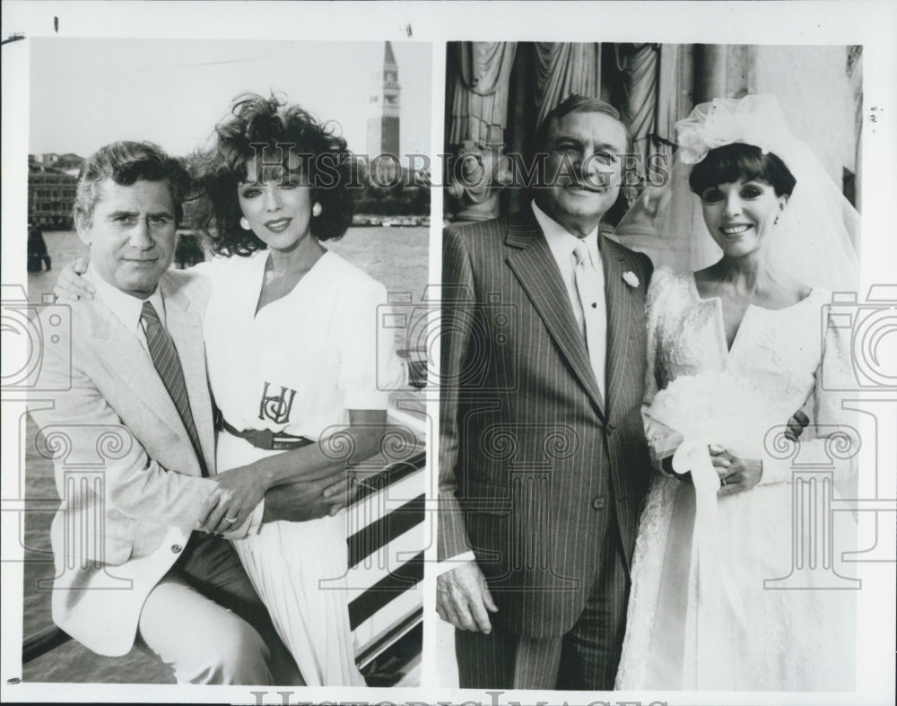"1989 Press Photo James Farentino, Joan Collins, and Gene Kelly in ""Sins"" on CBS - Historic Images"