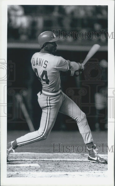 1988 Press Photo Cincinnati Reds Center Fielder Baseball Player Eric Davis - Historic Images