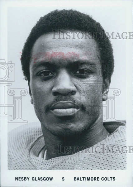 Press Photo Baltimore Colts Player Nesby Glasgow - Historic Images