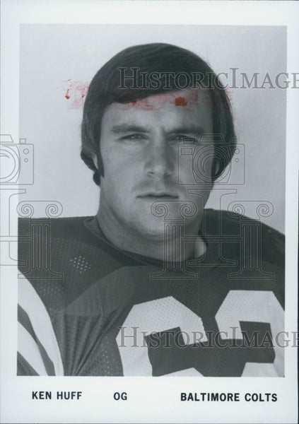 Press Photo of Ken Huff of the Baltimore Colts - Historic Images