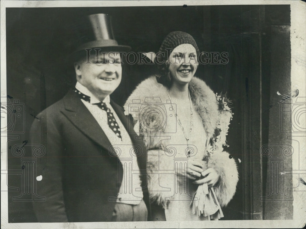 1930 Mr. Mrs. Dudley Field Malone former Miss Edna Louise Johnson - Historic Images
