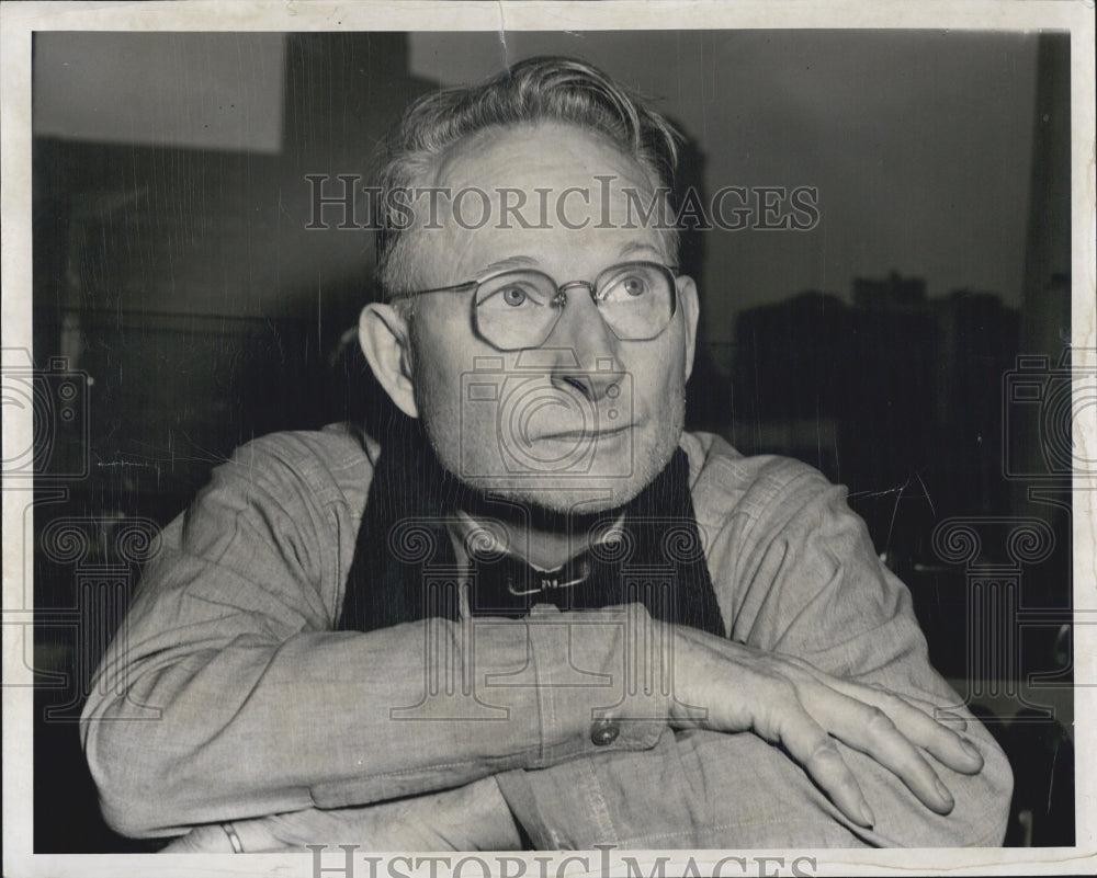 1951 Press Photo Theodore Dewitt Pearce murder charge of wife. - Historic Images