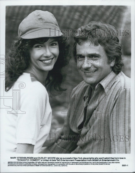 Press Photo Mary Steenburgen Dudley Moore Actors Romantic Comedy - Historic Images