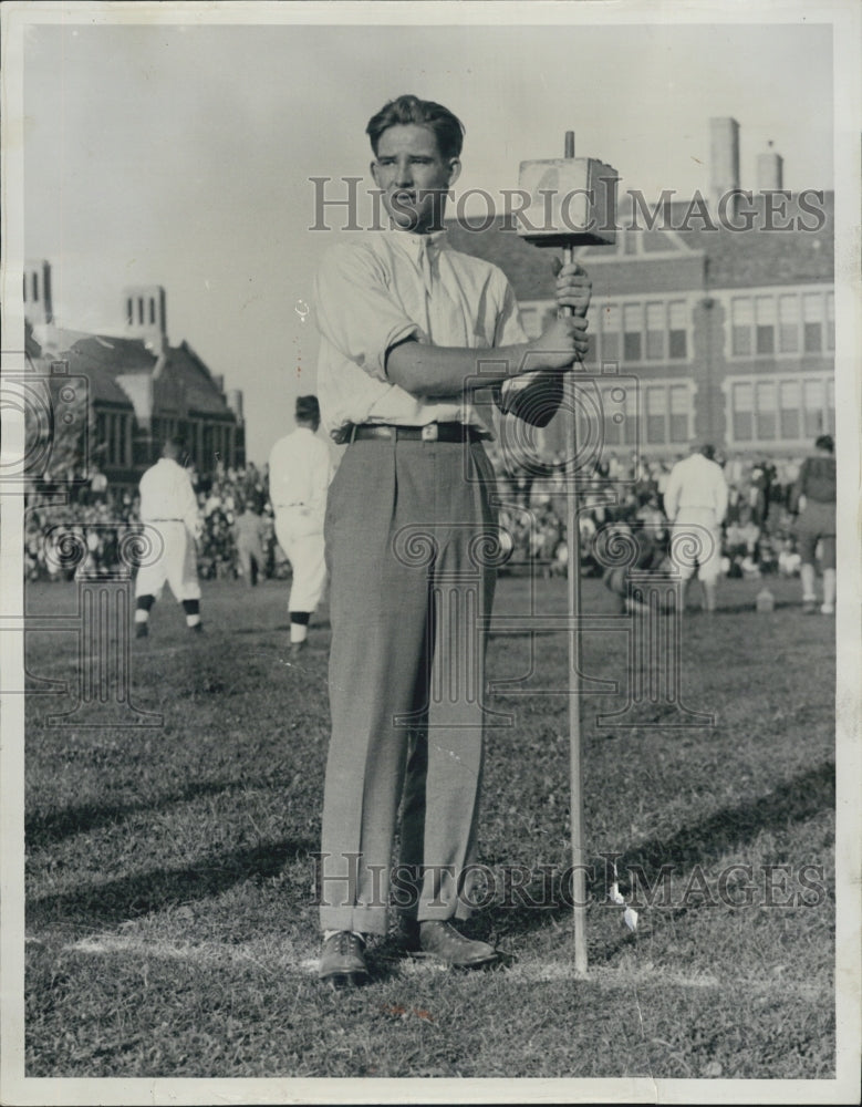 1932 Arthur Wideman Former Central High FB Star - Historic Images