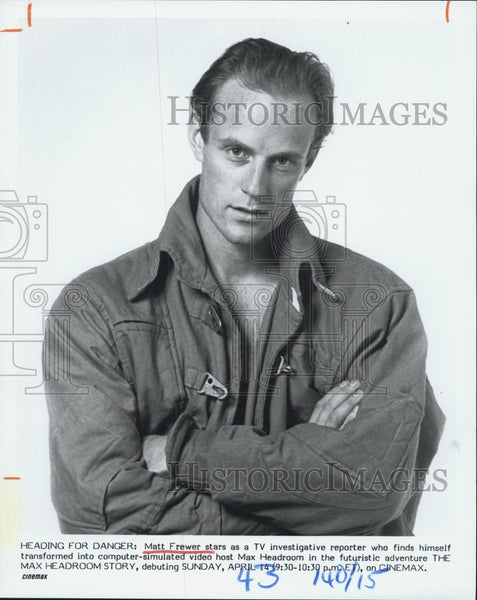 Press Photo Matt Frewer - Historic Images