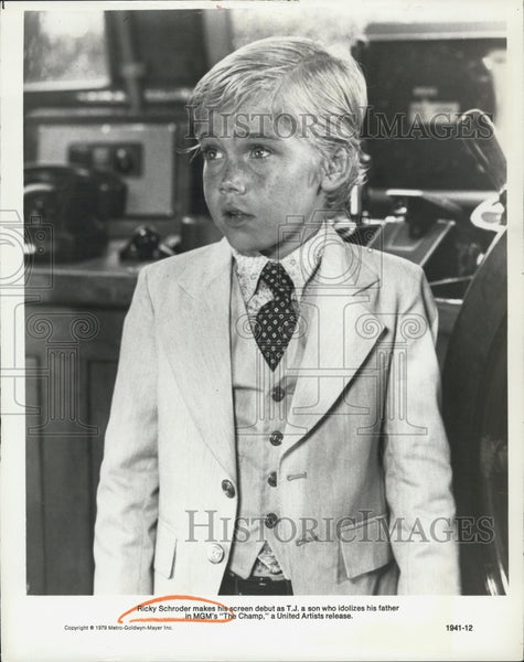"1979 Press Photo Actor Ricky Schroder at his Debut as T.J in the movie ""Champ"". - Historic Images"