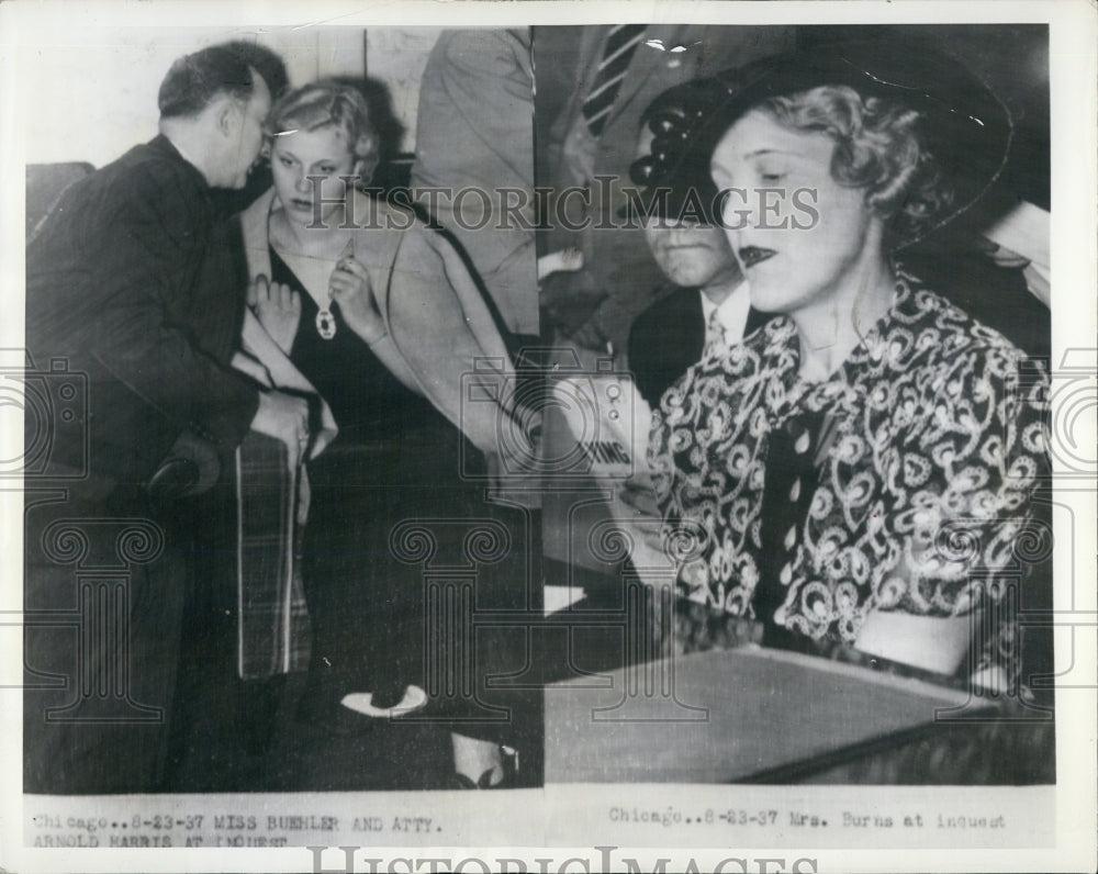 1931 Press Photo Police quetion 2 blondes on the Wife and the other his mistress - Historic Images