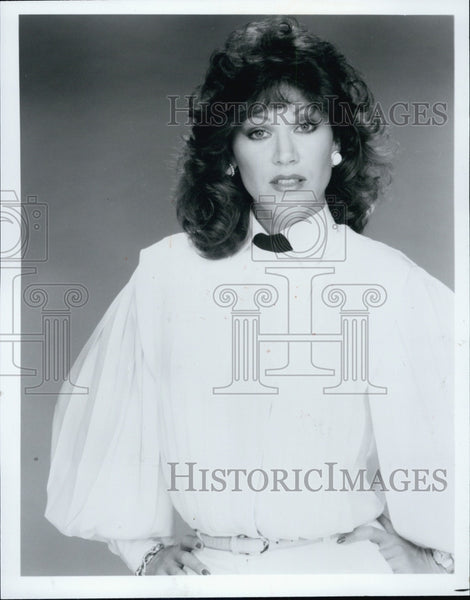 Press Photo Matt Houston TV series actress Pamela Hensley - Historic Images