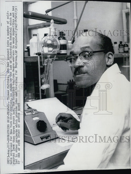 1967 Press Photo Dr.Thomas Matthew show in the picture - Historic Images