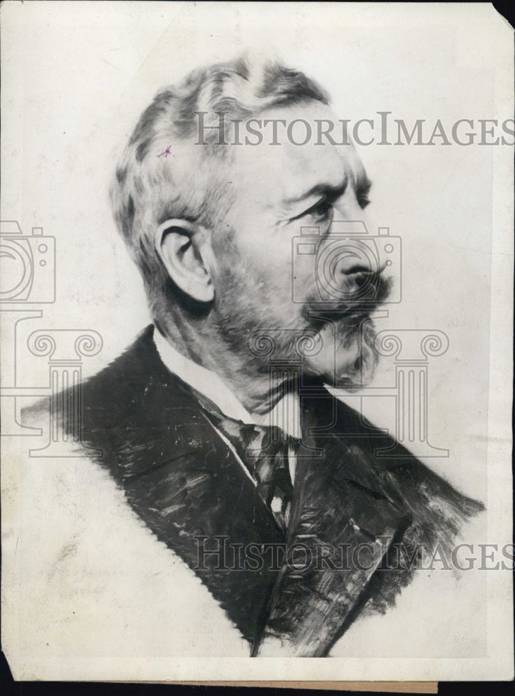 1926 Press Photo Painting of former Kaiser William Hohenzollern - Historic Images
