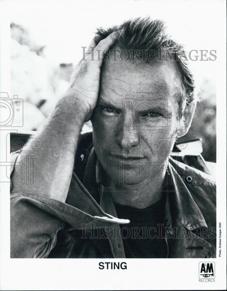 Press Photo Sting A&M Records - Historic Images