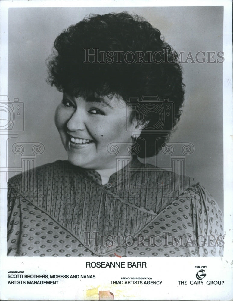 1988 Press Photo Actor and Comedienne Roseanne Barr - Historic Images