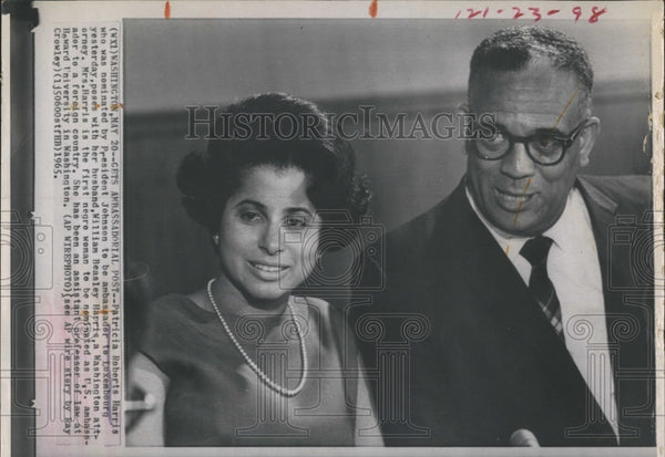1965 Press Photo Patricia Roberts Harris Nominated Ambassador by President - Historic Images