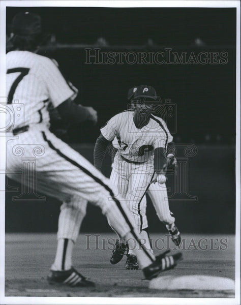 1974 Press Photo Willie Montanez Philadelphia Phillies - Historic Images