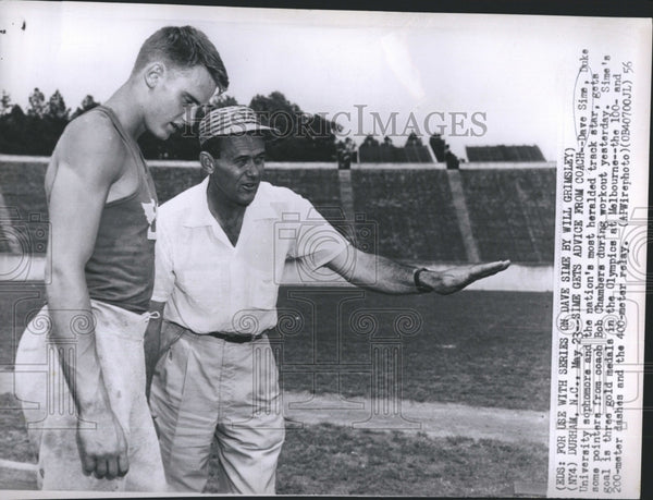 1956 Coach Chambers with Duke Track Star Sime - Historic Images