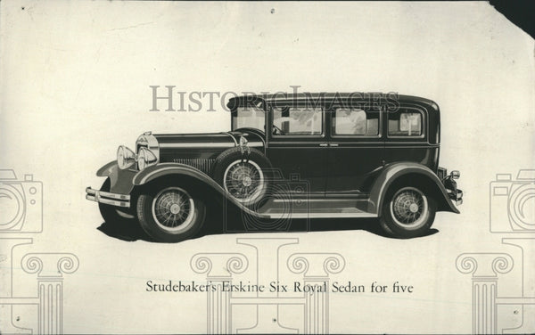 1928 Press Photo Studebaker's Erskine Royal Sedan for five. - Historic Images