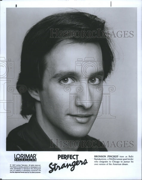 Press Photo Bronson Pinchot American actor. - Historic Images