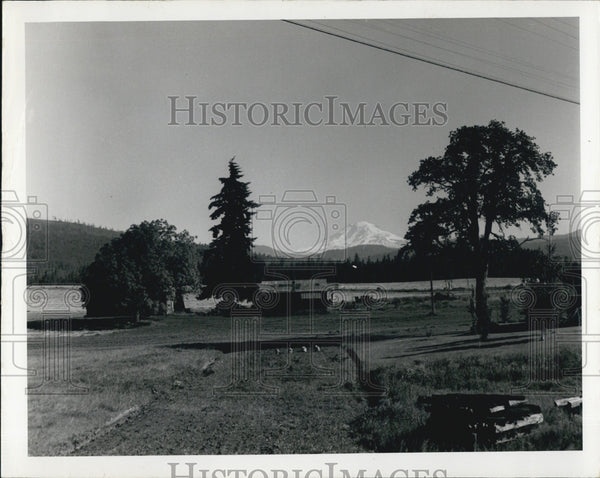 1972 Press Photo Sam Hill Country, Mt. Adams, Trout Lake, Washington - Historic Images