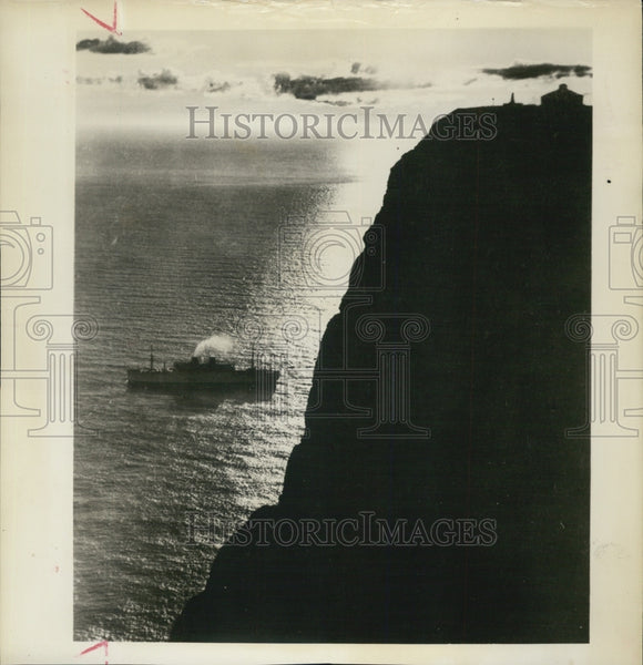 1964 Press Photo A view from top of Europe at North Cape,Norway - Historic Images