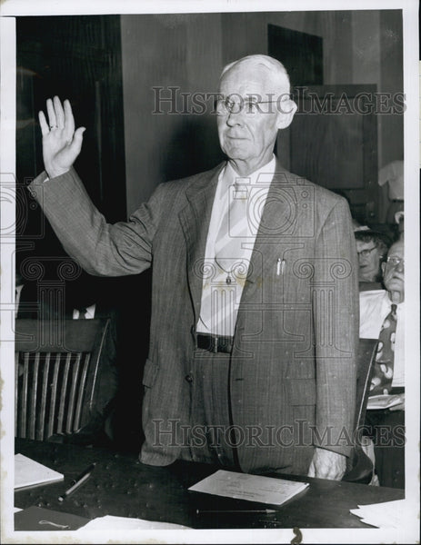 1953 Press Photo Frank Rourke M.T.A. Trustee - Historic Images
