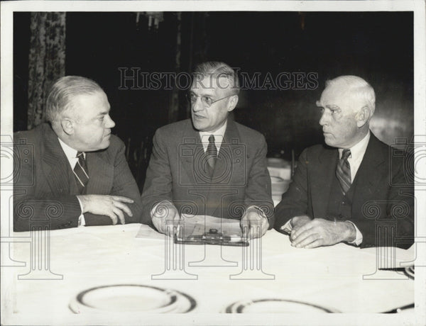 1936 Press Photo Donald Barnes William Harridge Clark Griffiths Baseball Owners - Historic Images