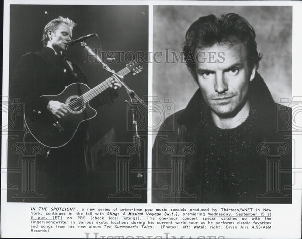 Press Photo Sting  English musician, singer-songwriter. - Historic Images