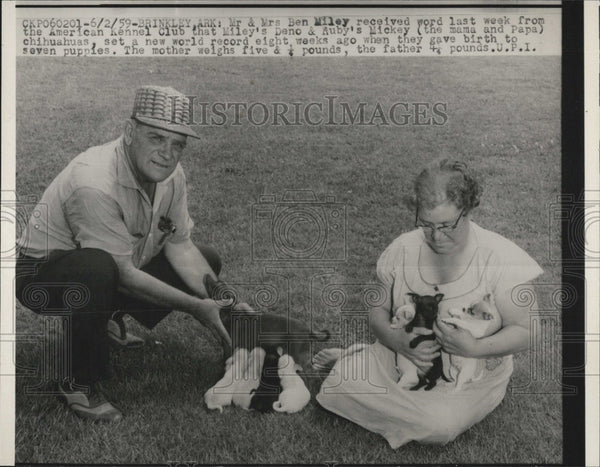 1959 Press Photo Ben Miley. - Historic Images