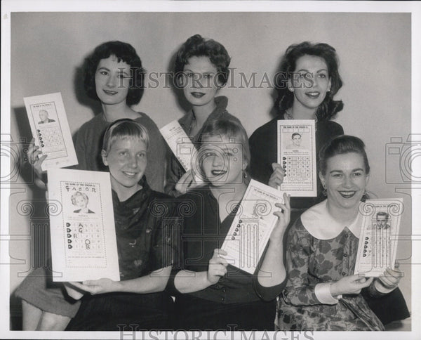 1959 Press Photo Find the Name contest winners. - Historic Images