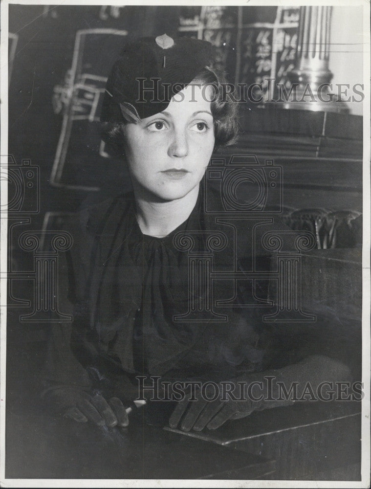 1934 Press Photo Actress Sue Carol - Historic Images