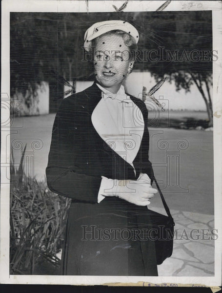 1950 Press Photo Actress Eleanor Boardman - Historic Images