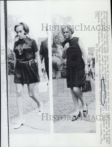 Outlet New Jersey >> 1969 Press Photo Margaret Carroll Esther Newberg Witnesses In Kopechne | Historic Images