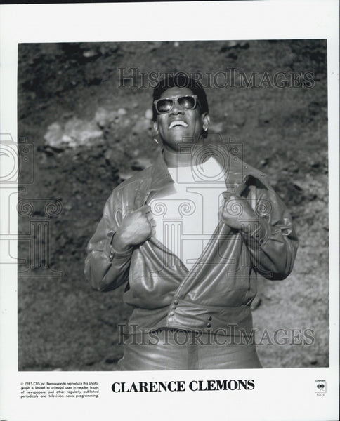 1985 Press Photo Musician And Actor Clarence Clemons - Historic Images