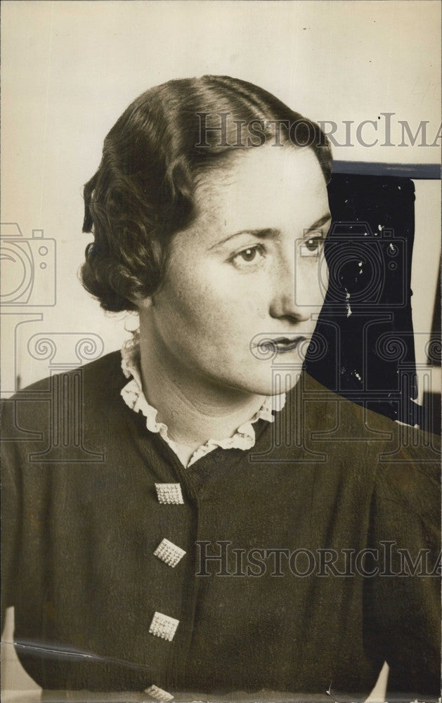 1935 Press Photo Marilyn Nute of Boston, Mass. - Historic Images