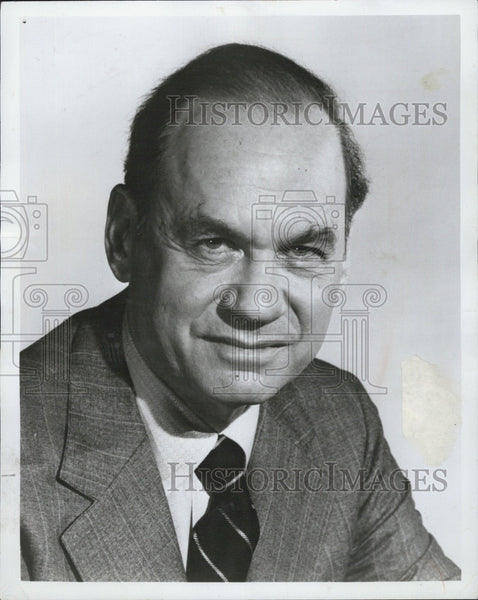 1976 Press Photo Commentator and Tv Host Edwin Newman - Historic Images