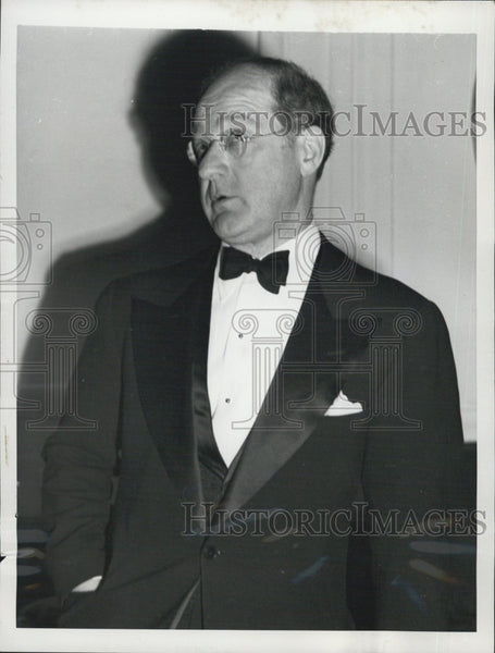 1954 Press Photo Avery Brundage,US Olympics committee - Historic Images