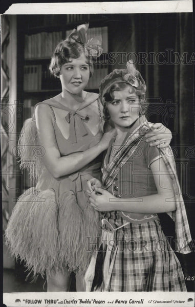 "1930 Press Photo Zelina O'Neil & Nancy Carroll star in ""Follow Thru"" - Historic Images"