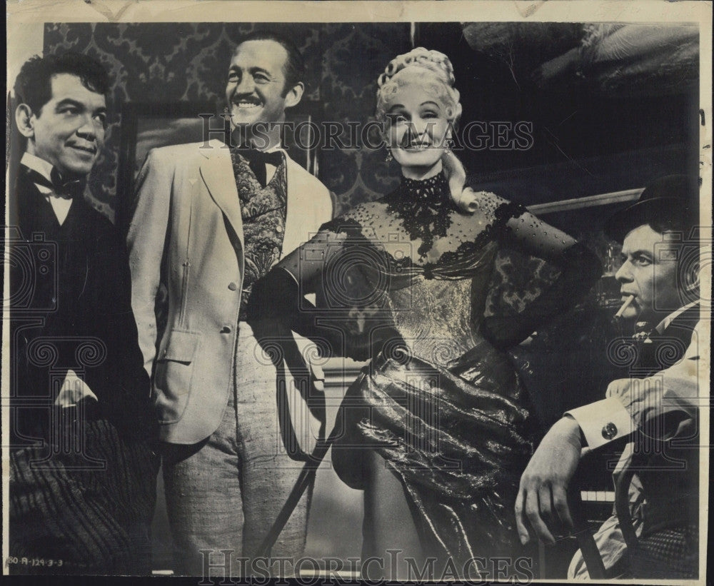 1957 press photo cast around the world in 80 days historic images